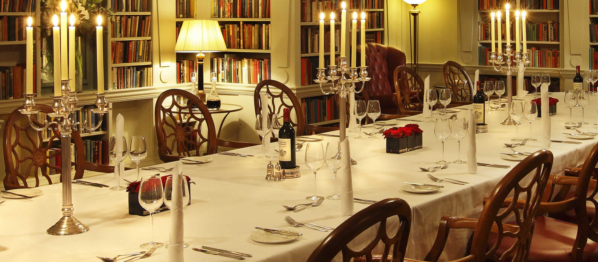 Bloomsbury Hotel - The Library - Space for private dining and meetings