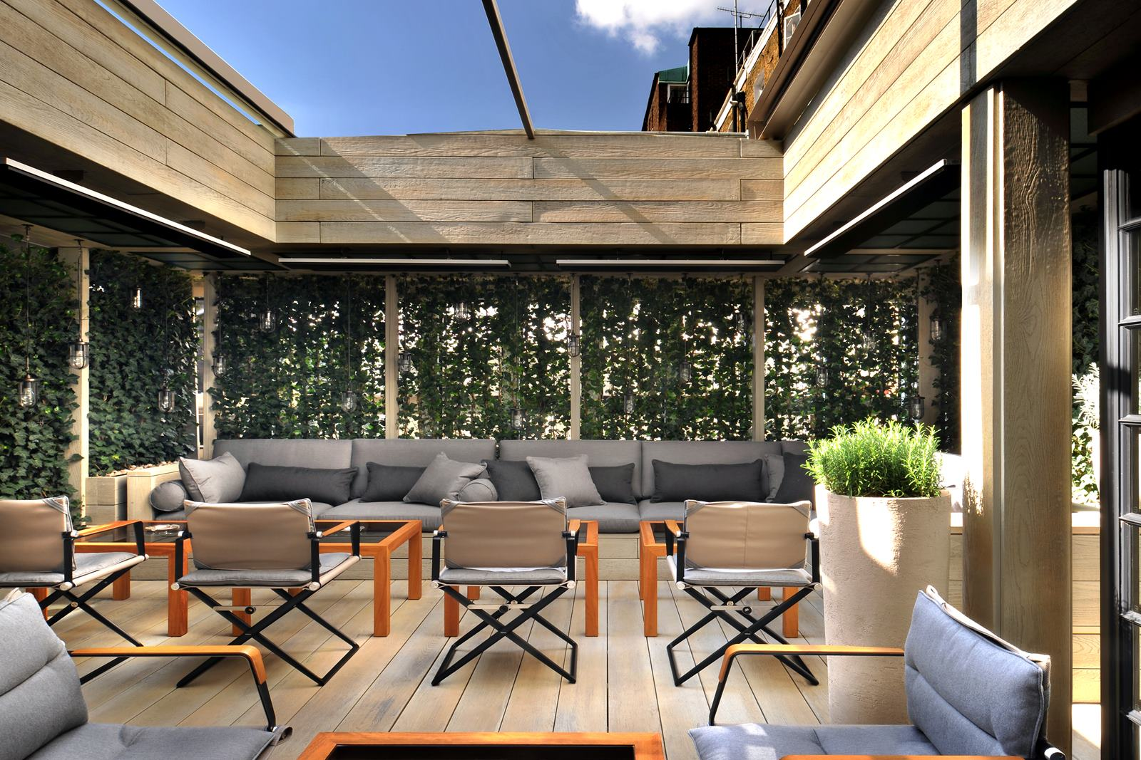 Rooftop bar london hire space for Terrace hotel london