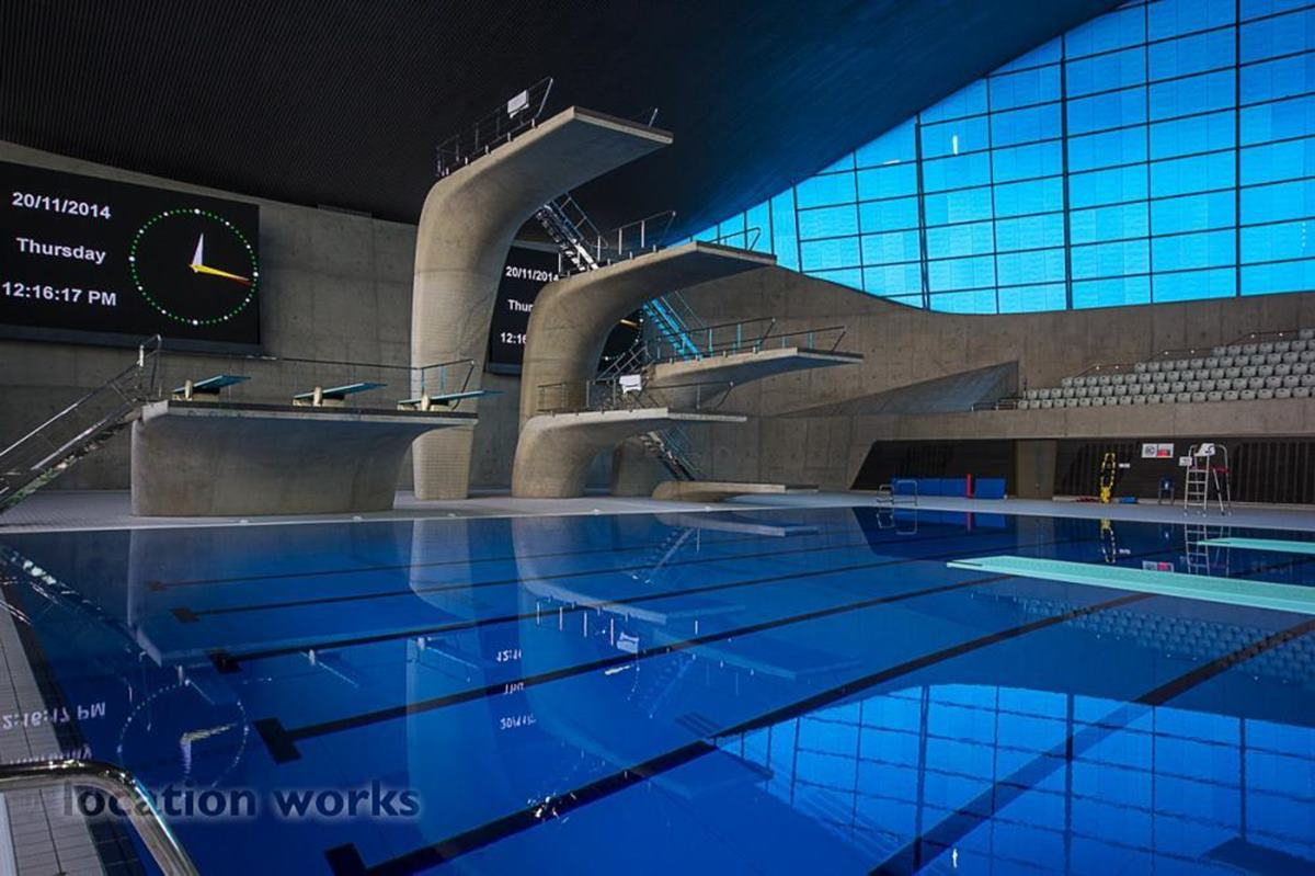 Competition hall events hire london aquatics centre for Garden pool hire london