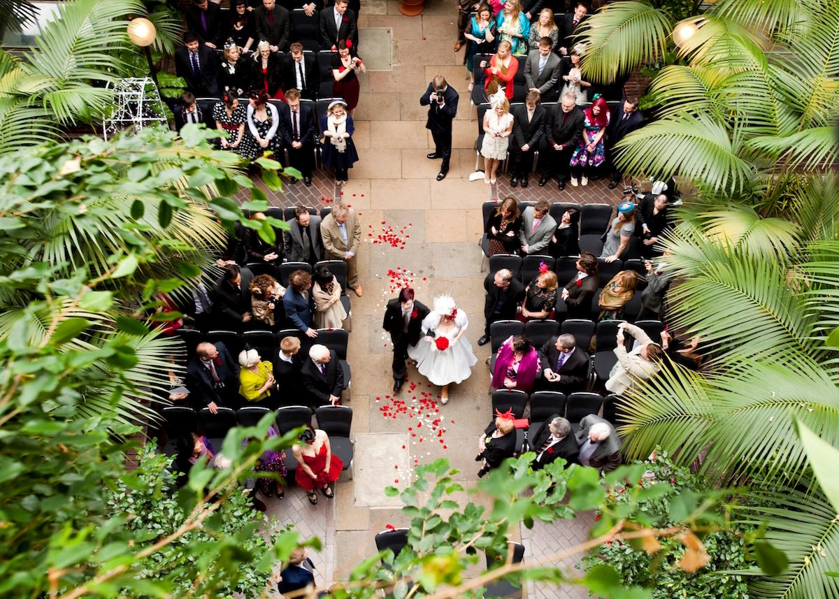 Barbican Centre Conservatory wedding