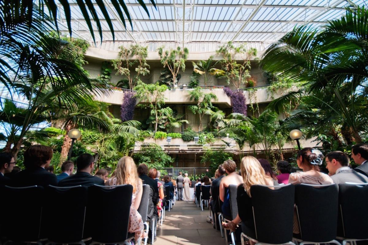The conservatory weddings hire barbican centre for Garden pool hire london