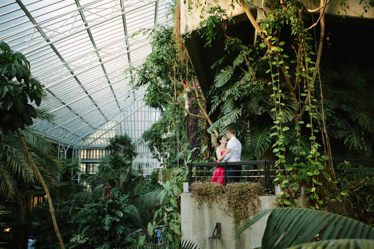 Barbican Centre Conservatory wedding couple
