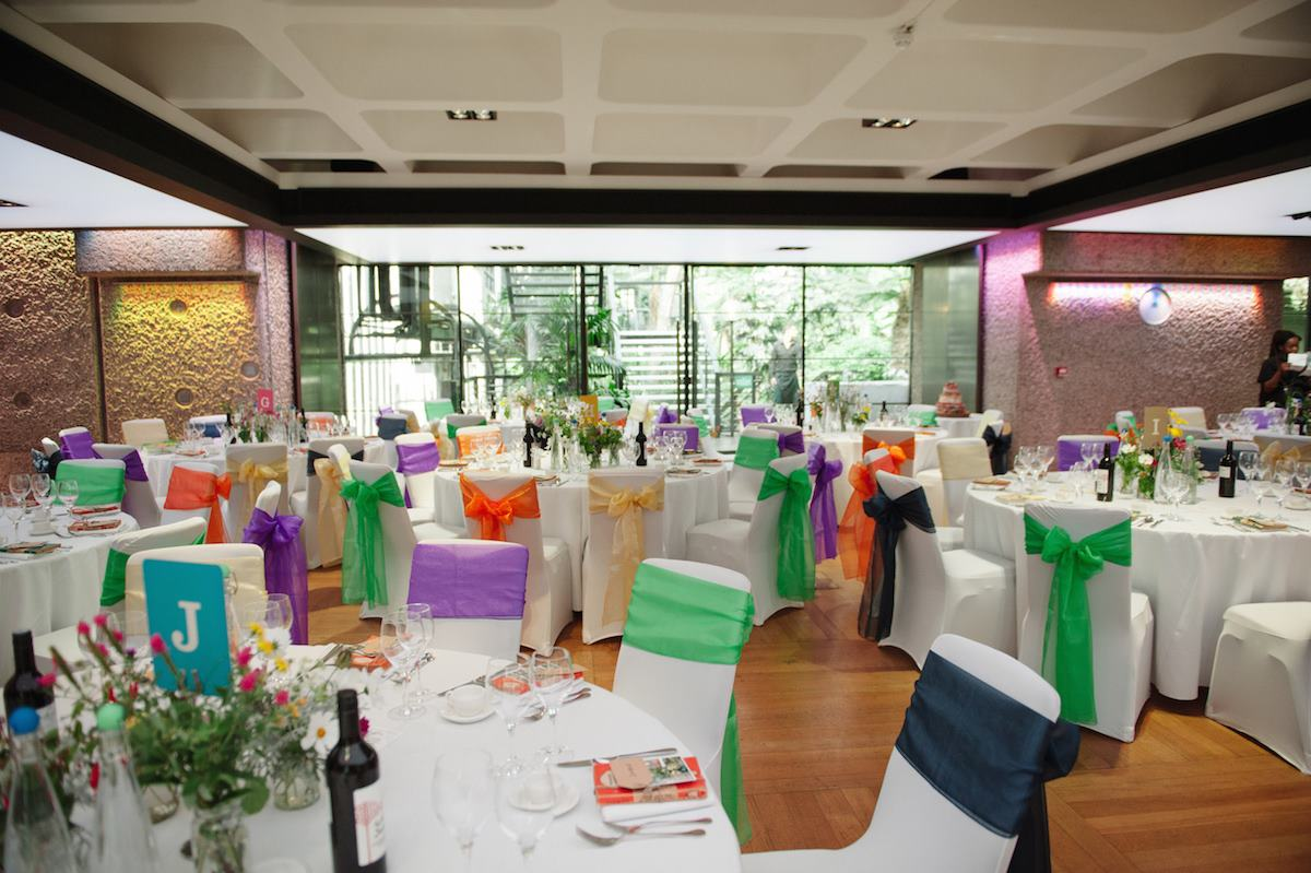 Barbican Centre Conservatory wedding tables