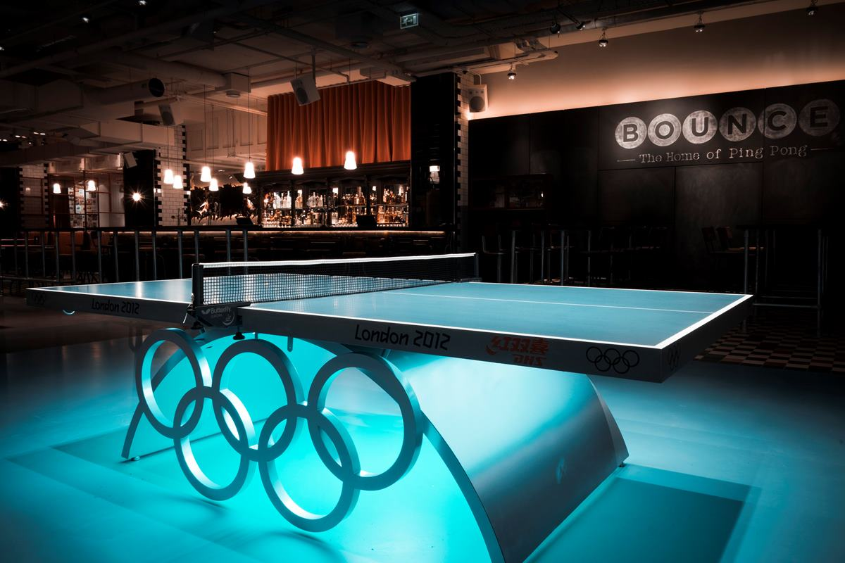 Bounce Olympic ping pong table