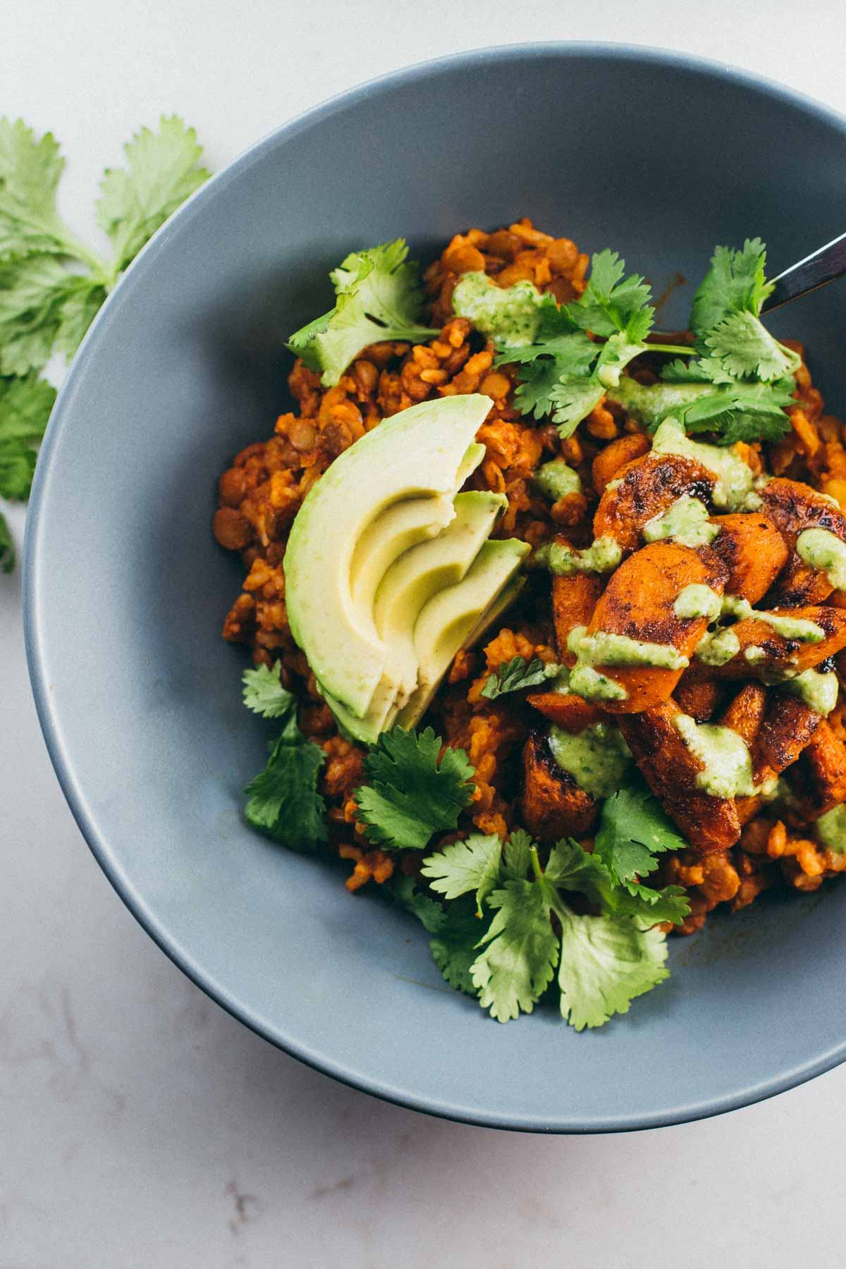 Lentil Curry Bowl