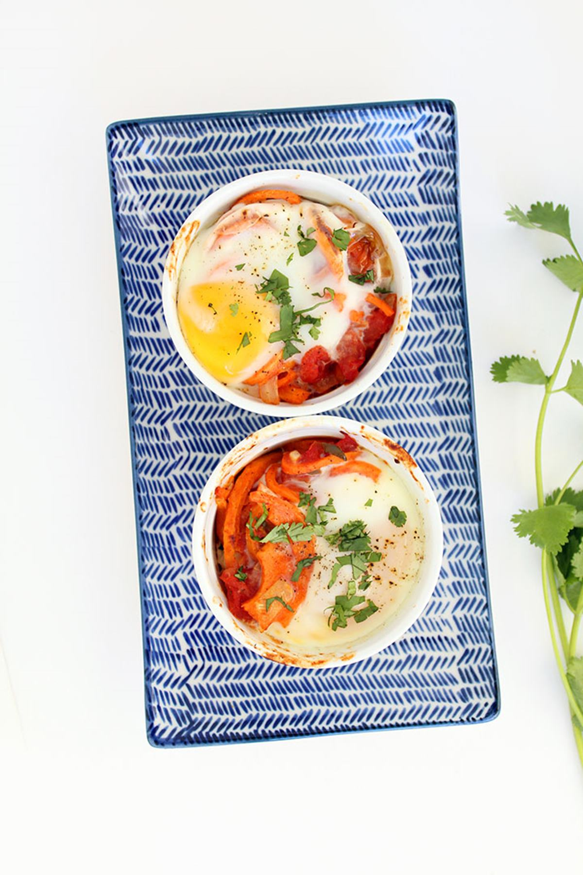Baked Egg and Sweet Potato Bowl