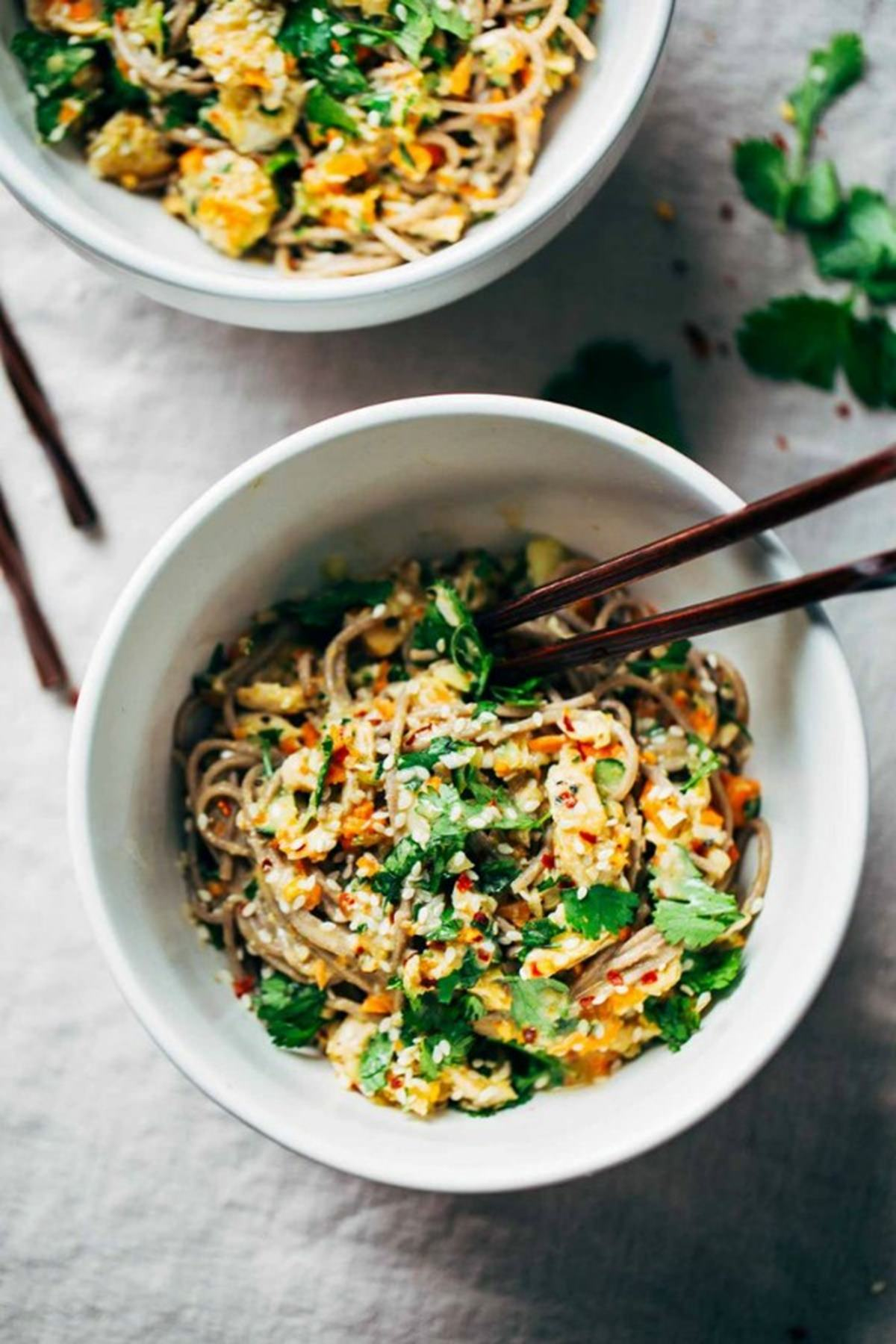 Chicken Sesame Noodle Bowl