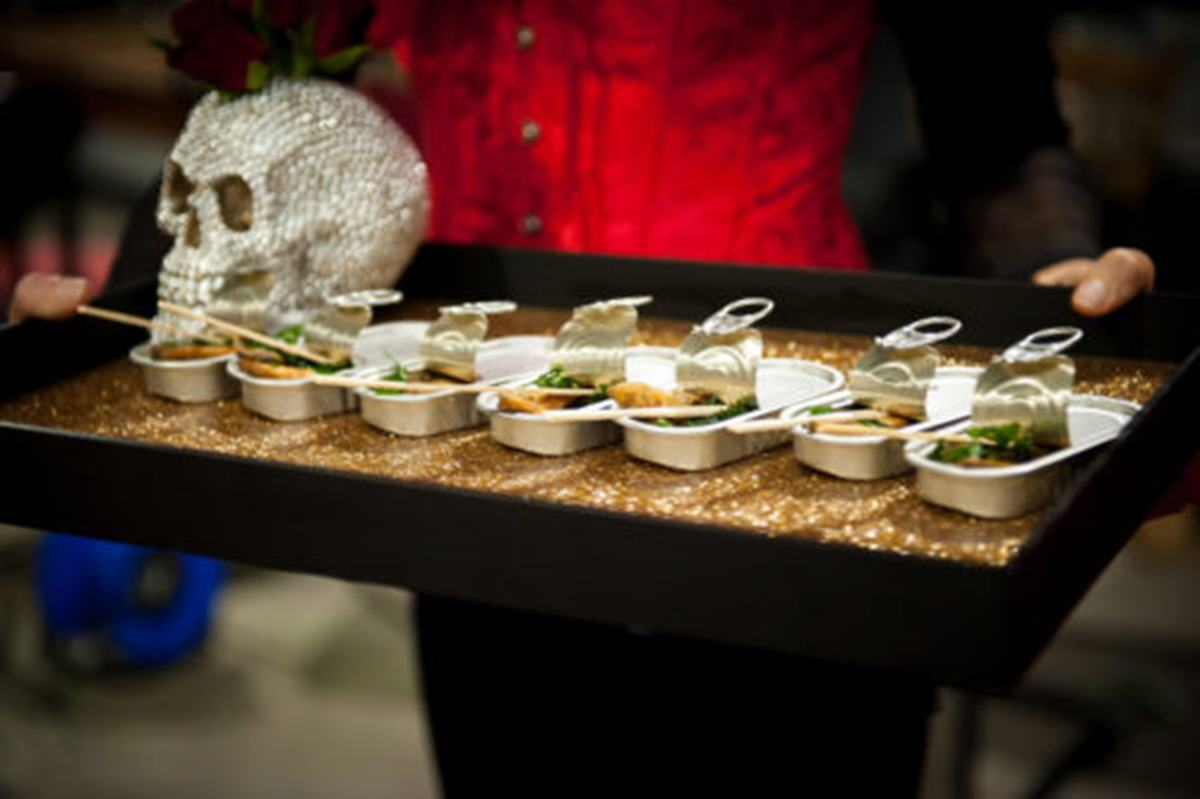 Halloween canapes