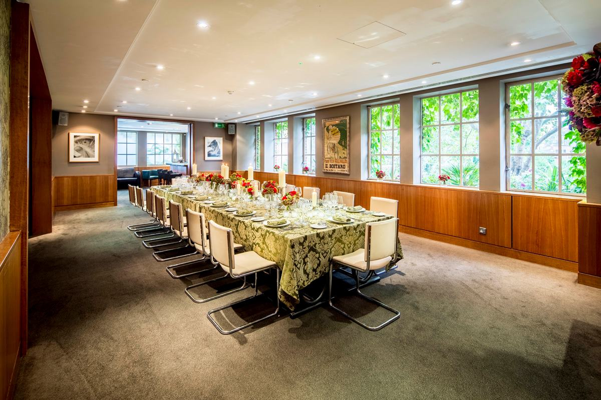 Beaufort room business hire bluebird chelsea for Best private dining rooms chelsea