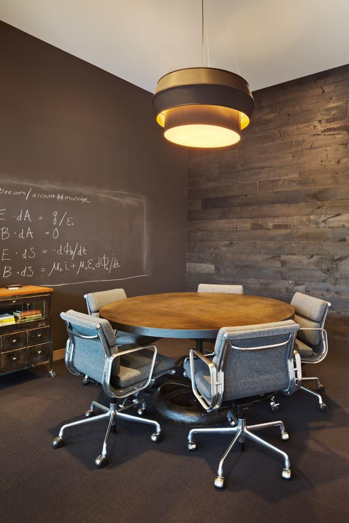 chalkboard walled room