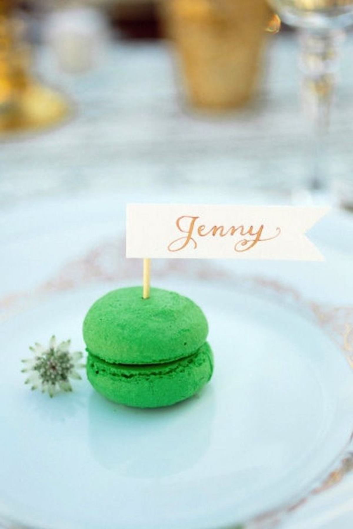 Delicious personalised macaroons