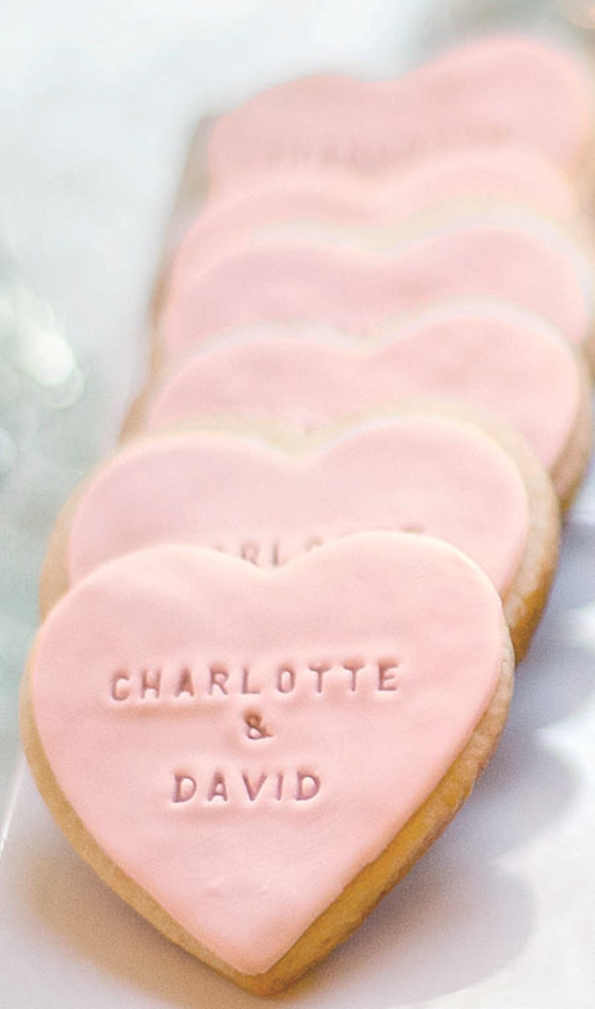 Cute heart shaped cookies