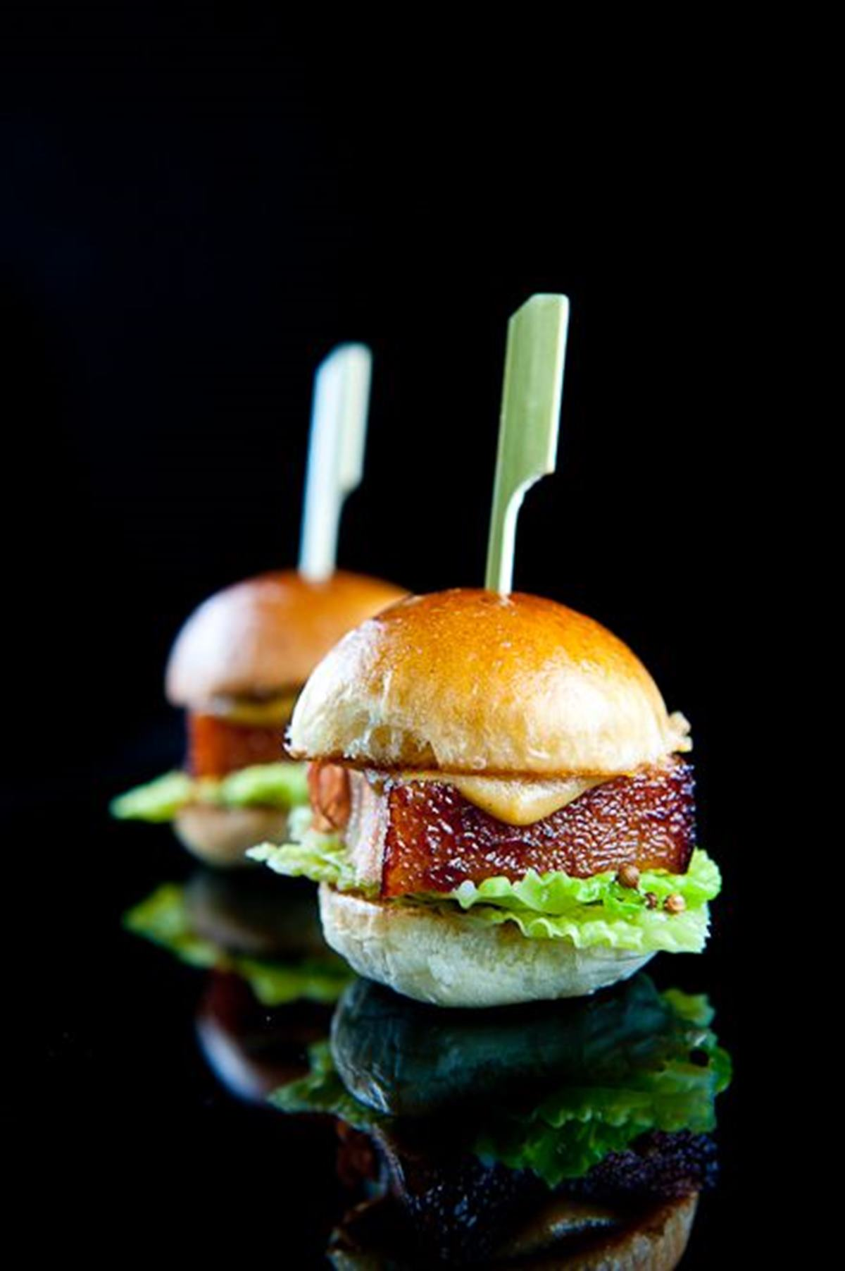 Braised Pork Belly Sliders