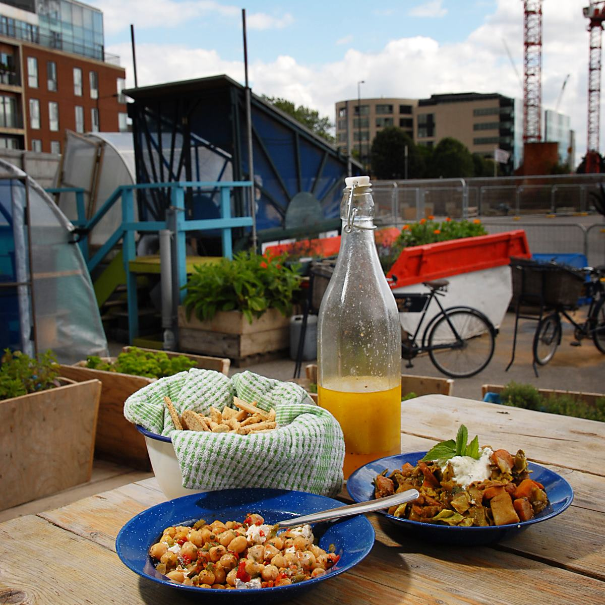 delicious food at The Skip Garden at King's Cross